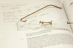 Glasses and the Statistics. Glasses and the Stats Stock Photos
