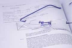 Glasses and the Statistics Stock Photos