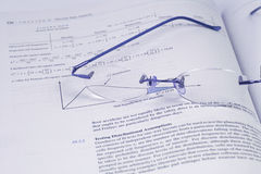 Glasses and the Statistics (DOF) Stock Images