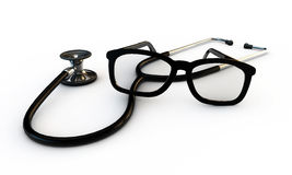Glasses and stethoscope Stock Photography