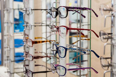 Glasses in a store Stock Photography
