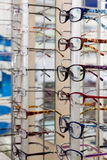 Glasses in a store Royalty Free Stock Image