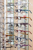 Glasses in a store Stock Image