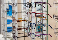 Glasses in a store Royalty Free Stock Photography