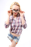Glasses ­ a stylish addition Stock Images