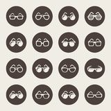 Glasses and sunglasses  icon set Stock Photography
