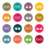 Glasses and sunglasses  icon set Stock Image