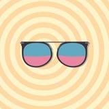 Glasses - sunglasses, reading glasses, cinema 3d glasses - vector Stock Photos
