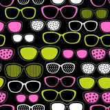 Glasses and sunglasses seamless pattern Royalty Free Stock Image