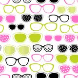 Glasses and sunglasses seamless pattern. Vector Royalty Free Stock Images