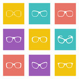 Glasses and sunglasses Royalty Free Stock Image