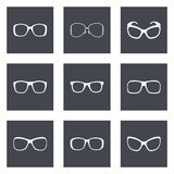 Glasses and sunglasses Stock Images