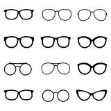 Glasses and sunglasses vector set Stock Images