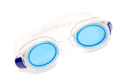 Glasses for swim on white background Royalty Free Stock Image
