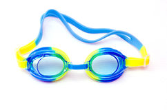 Glasses for swimming isolated on a white background Royalty Free Stock Photography