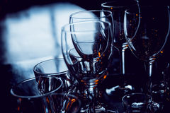 Glasses on the table. Bar Stock Photography