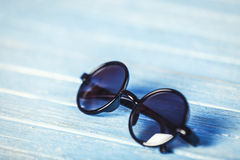 Glasses on a table. Royalty Free Stock Images