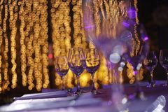 Banquet Bokeh Glasses Royalty Free Stock Images