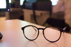 Glasses on table Royalty Free Stock Image