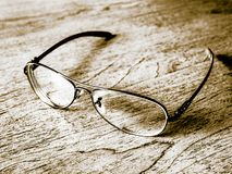 Glasses on the table royalty free stock photo