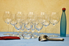 The glasses on the table Stock Photo