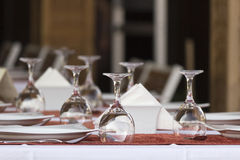 Glasses on the table Royalty Free Stock Photography