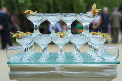 Glasses on a table royalty free stock images