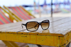 Glasses on the table Royalty Free Stock Image