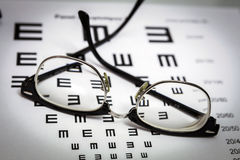 Glasses and tables to check the terms of Royalty Free Stock Photo