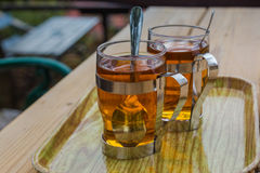 Glasses of tea. Stock Photography