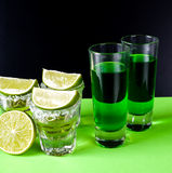 Glasses of tequila at the bar Royalty Free Stock Image