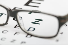 Glasses test Stock Photography