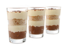 Glasses of tiramisu Royalty Free Stock Photography