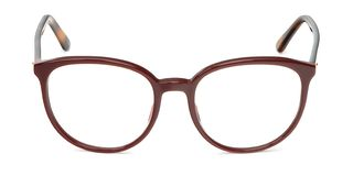 Glasses transparent for reading or good eye sight, front view isolated on white background.  royalty free stock images