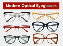 Glasses Transparent Set Stock Images