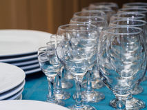 Glasses on the tray Royalty Free Stock Photo