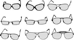 Glasses vector. Vector illustration of various glasses royalty free illustration