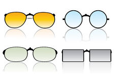 Glasses vector set Royalty Free Stock Images