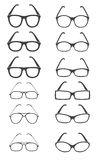 Glasses vector set. Glasses icons on white background. Vector illustration Royalty Free Stock Photos