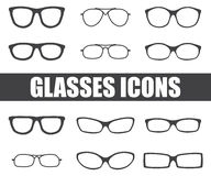 Glasses vector set Stock Photo