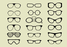 Glasses Vector Set Isolated White Background Stock Photography