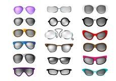 Glasses vector set isolated white background Royalty Free Stock Image