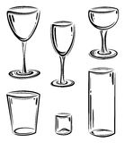 Glasses vector set Stock Photography
