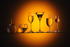 Glasses and vessels Royalty Free Stock Photography