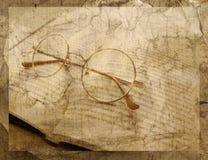 Glasses vintage background Royalty Free Stock Photos