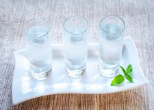 Glasses of vodka Stock Image