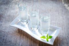 Glasses of vodka Stock Photos