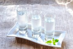Glasses of vodka Royalty Free Stock Photos