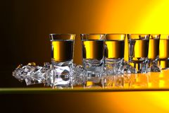 Glasses of vodka . stock images
