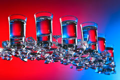 Glasses of vodka . royalty free stock photo